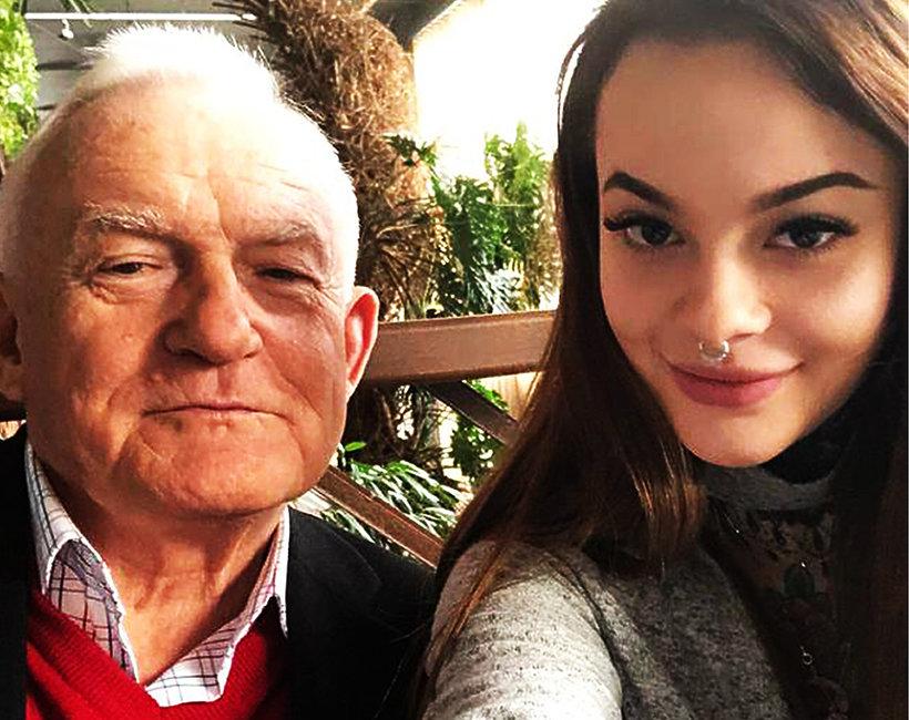 Leszek Miller z wnuczką Moniką