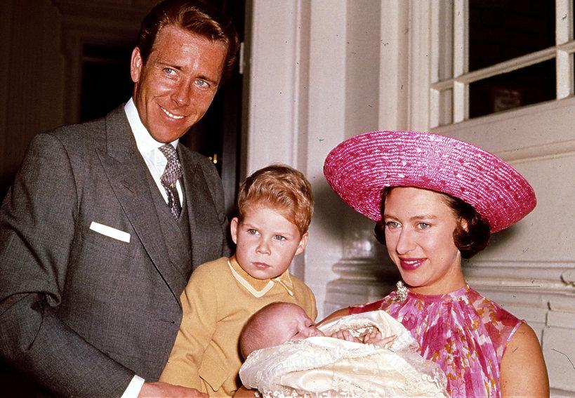 Lord Snowdon i księżniczka Małgorzata z dziećmi