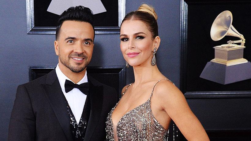 Luis Fonsi z żoną, Agueda Lopez, Grammy 2018