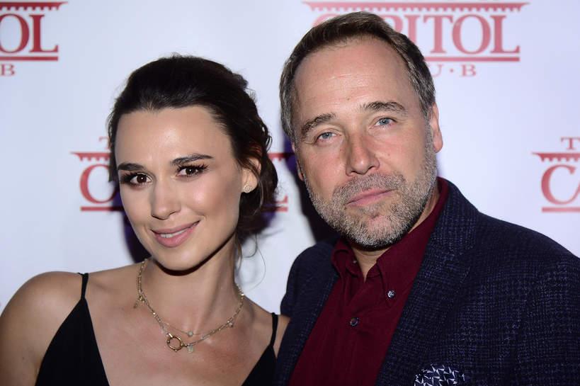 Łukasz Nowicki z żoną Olgą