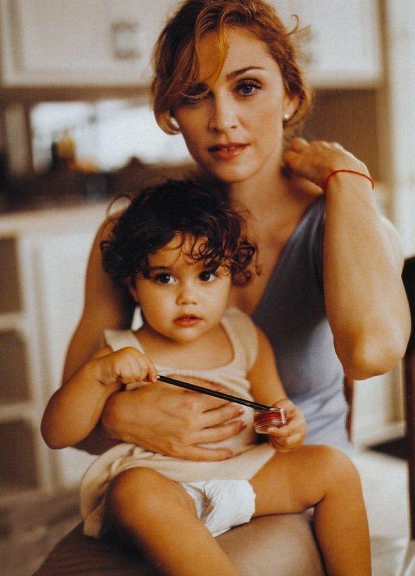 Madonna i córka Lourdes
