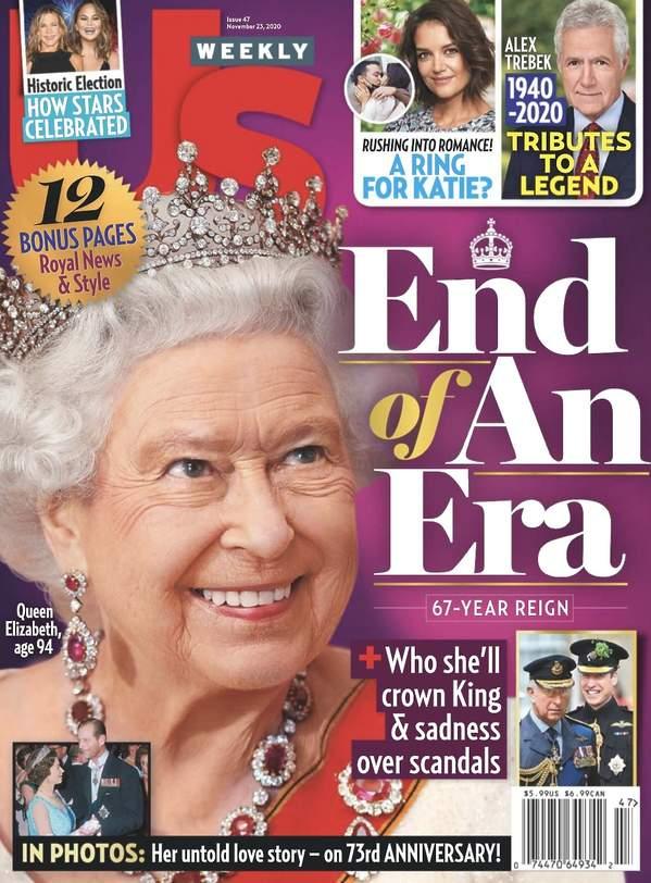 Magazyn US Weekly, królowa Elżbieta II abdykuje