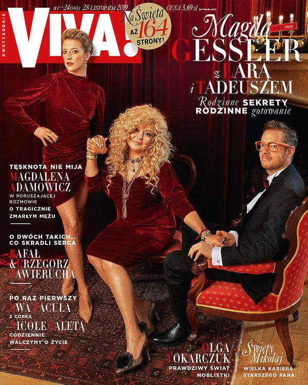 Magda Gessler, Lara Gessler i Tadeusz Müller, Viva! 24/2019, okładka