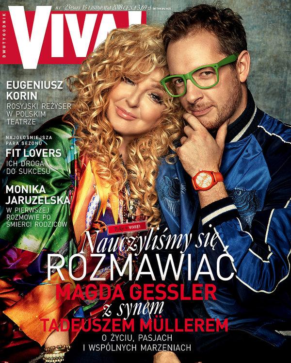 Magda Gessler, Tadeusz Muller, VIVA! 23/2018 Okładka