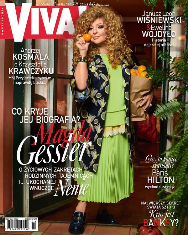 Magda Gessler, VIVA! 8/2021, okładkaMagda Gessler, VIVA! 8/2021, okładka
