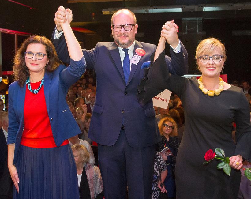 Magdalena Adamowicz, Aleksandra Dulkiewicz, Paweł Adamowicz.