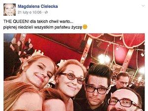 Magdalena Cielecka, Meryl Streep