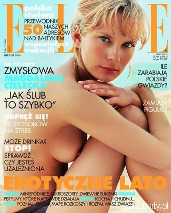 Magdalena Cielecka na okładce Elle