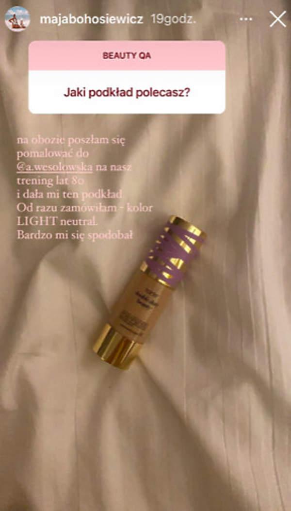 Maja Bohosiewicz kosmetyki podkład
