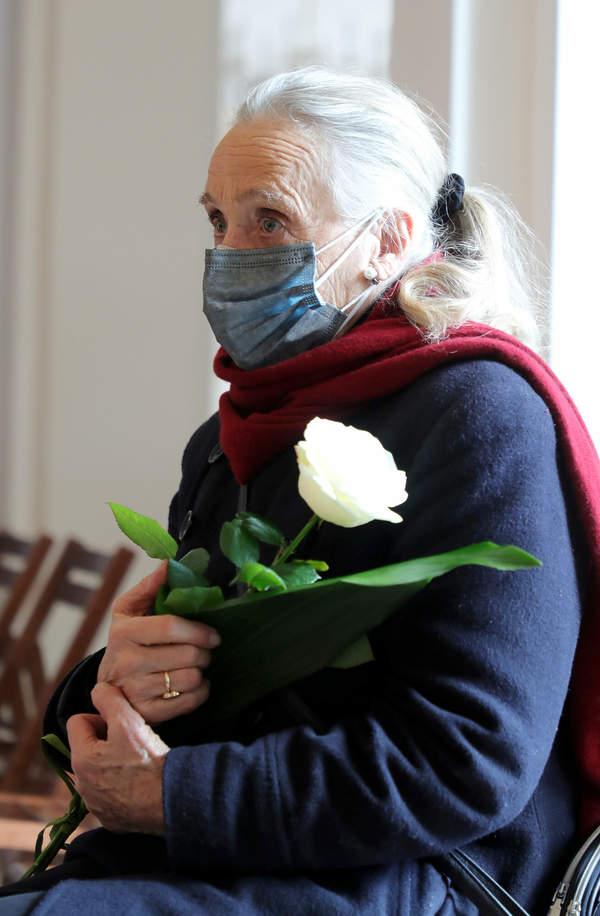 Maja Komorowska, Pogrzeb Krzysztofa Kowalewskiego