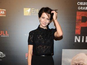 Maja Ostaszewska na premierze filmu Pitbull. Niebezpieczne kobiety