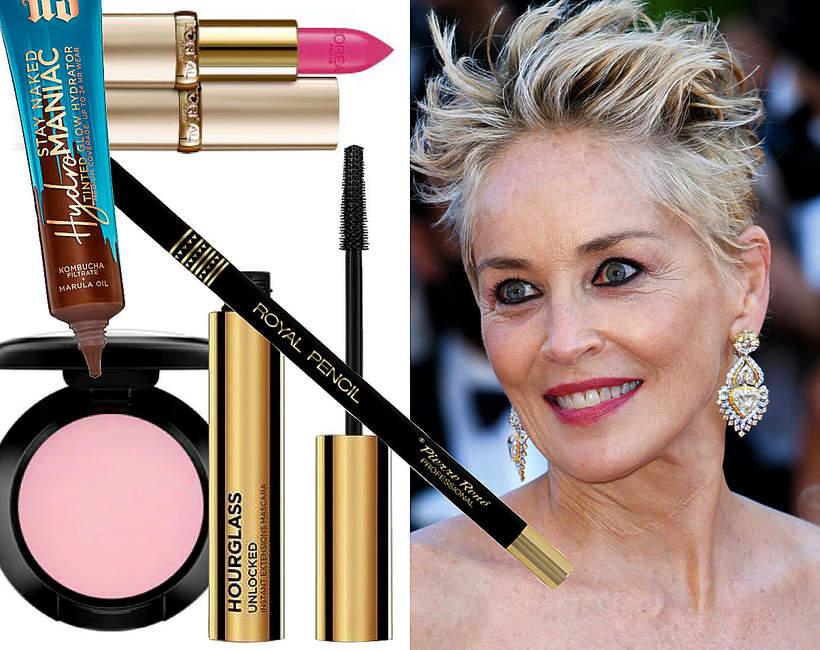 makijaż Sharon Stone Cannes 2021