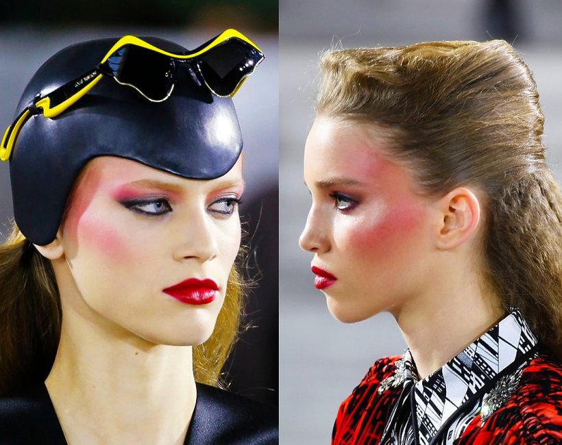 makijaż z pokazu Louis Vuitton