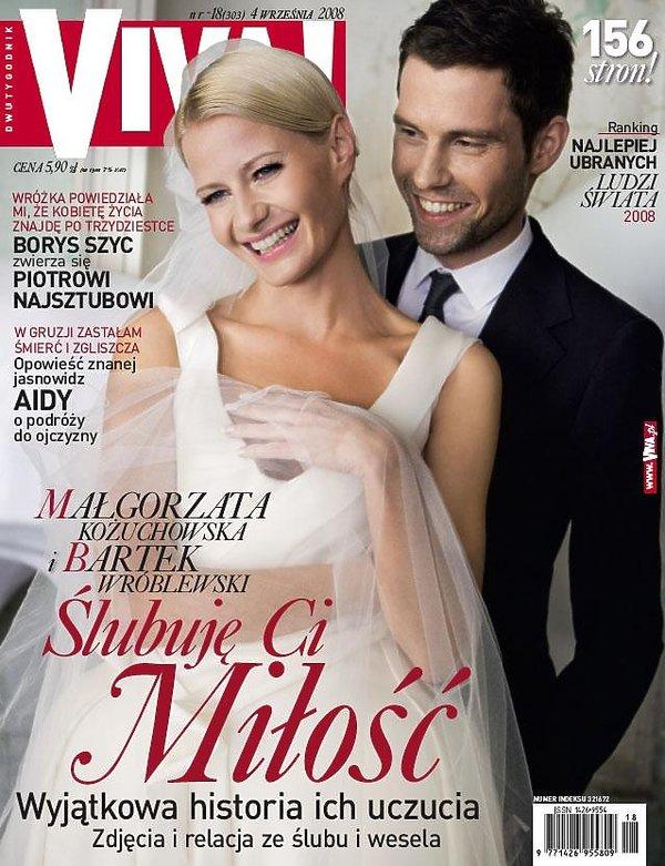 Małgorzata Kożuchowska i Bartek Wróblewski na okładce magazynu Viva!