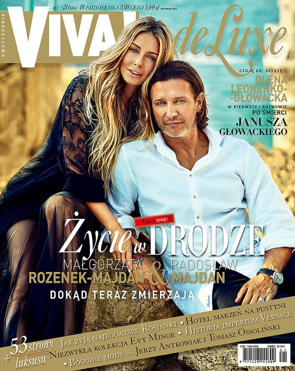 okładka, Małgorzata Rozenek-Majdan, Radosław Majdan, VIVA! De Luxe 21/2018