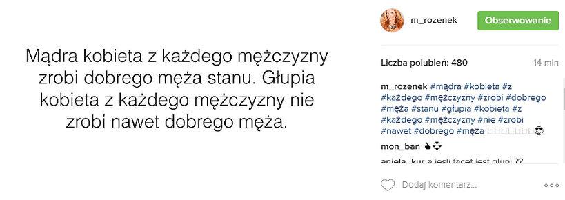Małgorzata Rozenek ostro odpowiada Dodzie