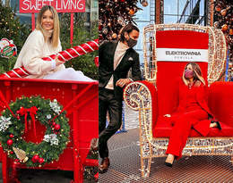 Małgorzata Rozenek w czerwonym garniturze. To idealny look na Święta 2020!