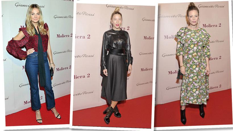 Małgorzata Socha, Ewa Chodakowska, Magdalena Boczarska na spotkaniu z Gianvito Rossi w butiku Moliera 2