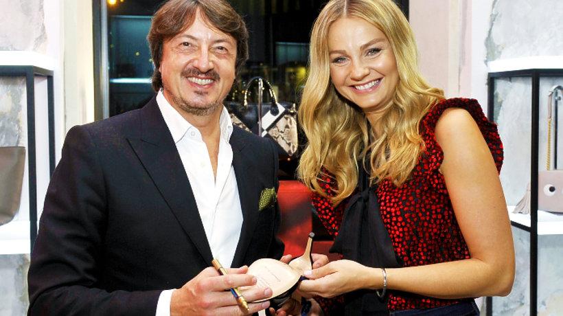 Małgorzata Socha na spotkaniu z Gianvito Rossi w butiku Moliera 2