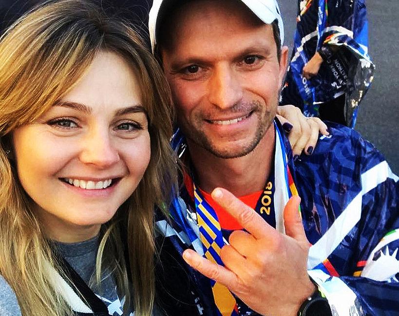 Małgorzata Socha z mężem, Krzysztof Wiśniewski