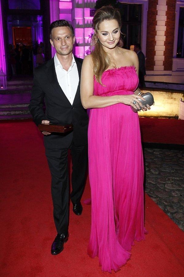 Małgorzata Socha z mężem Krzysztofem Wiśniewskim na gali Kobieta Dekady Glamour