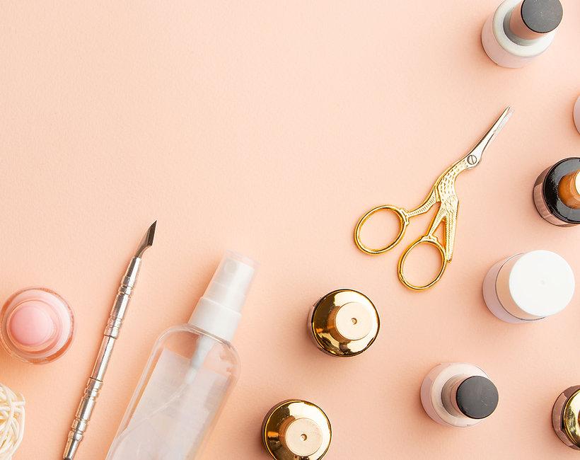 Manicure seaglass nails