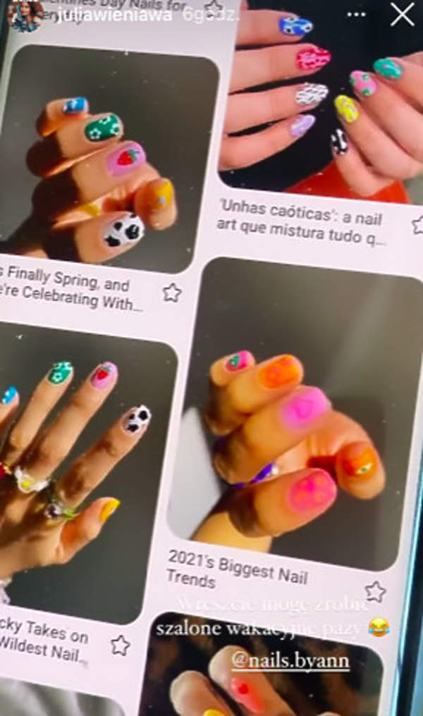 manicure Wieniawy we wzorki