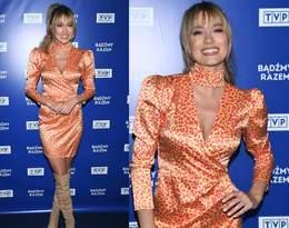Marcelina Zawadzka zachwyciła stylizacją na prezentacji wiosennej ramówki TVP