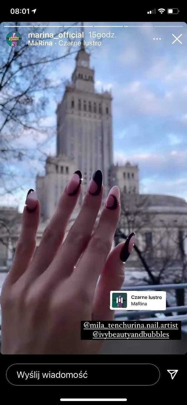Marcina pokazała manicure