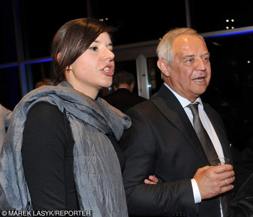 Marek Kondrat z żoną Antoniną na urodzinach u Andrzeja Wajdy