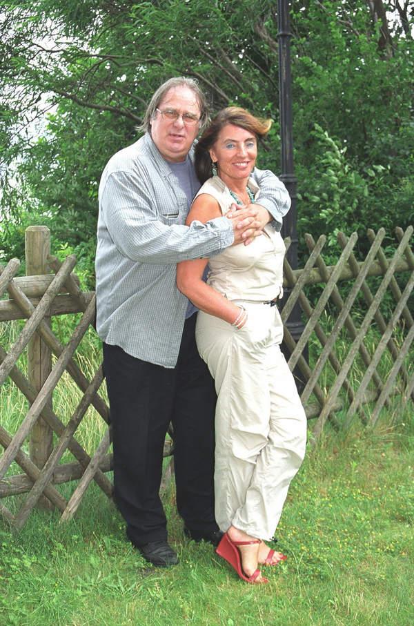 Marek Perepeczko z żoną