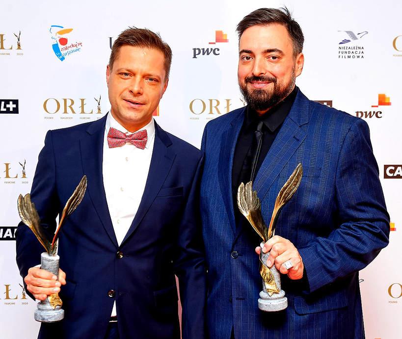 Marek Sekielski, Tomasz Sekielski, wreczenie Polskich Nagrod Filmowych Orly 2020