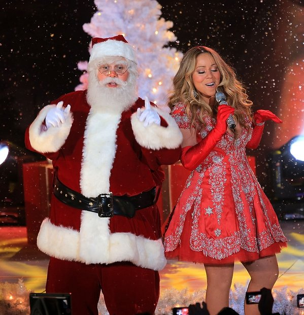 Mariah Carey i św. Mikołaj
