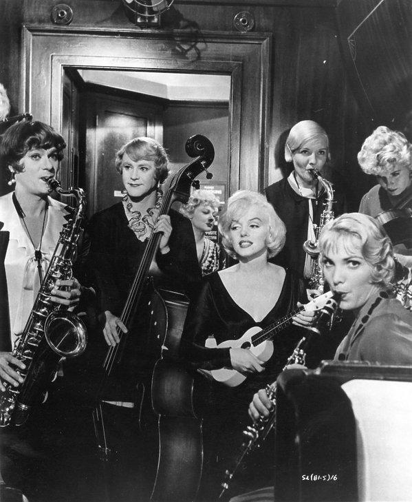 Marilyn Monroe, Tony Curtis i Jack Lemmon