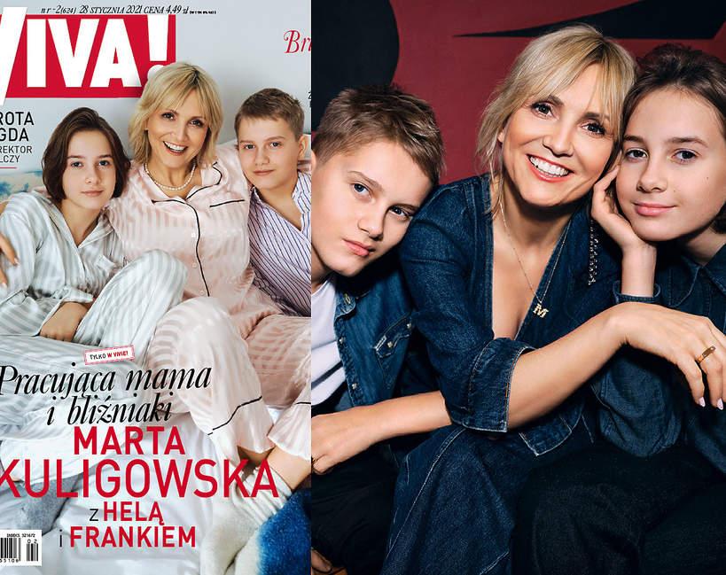 Marta Kuligowska z dziećmi, VIVA! 2/2021