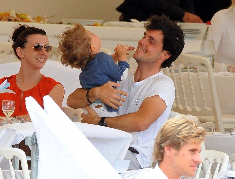 Marta Ortega Perez z mężem i synem w Cannes