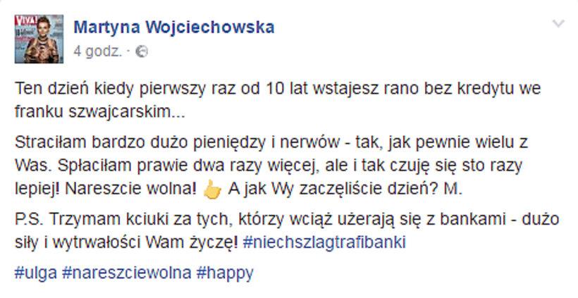 Martyna Wojciechowska kredyt