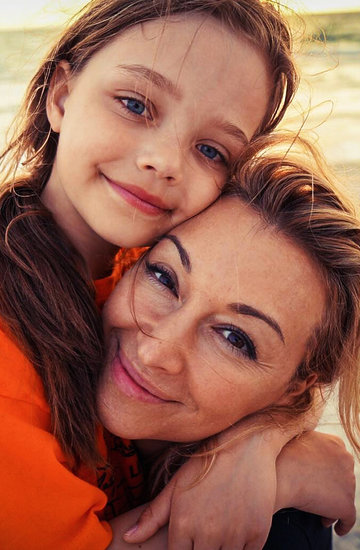 Martyna Wojciechowska z córką, jamnik