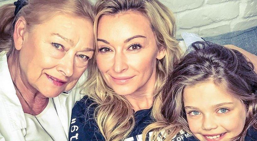 Martyna Wojciechowska z mamą i córką