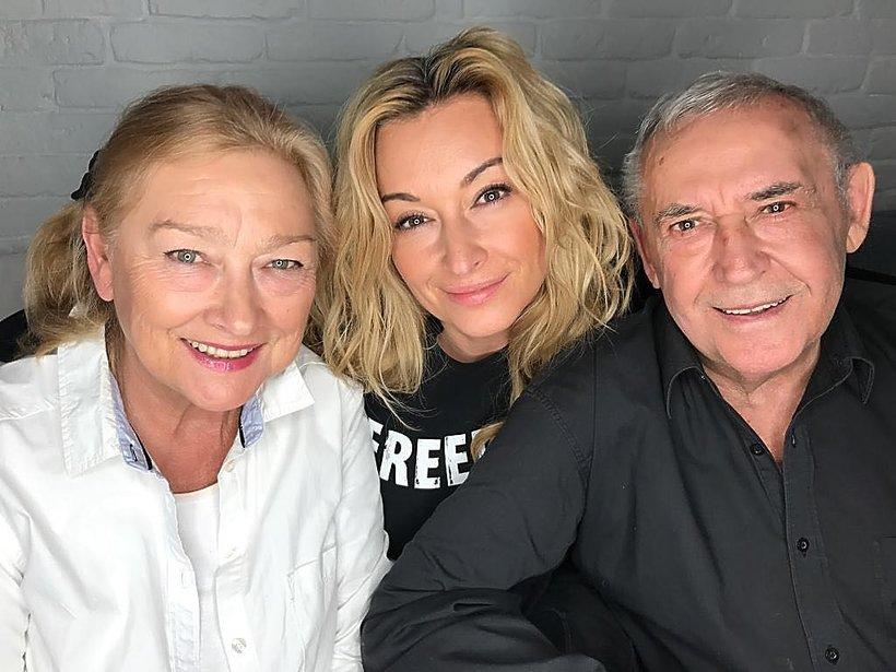 Martyna Wojciechowska z rodzicami