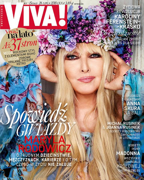 Maryla Rodowicz, VIVA! lipiec 2018, OKŁADKA