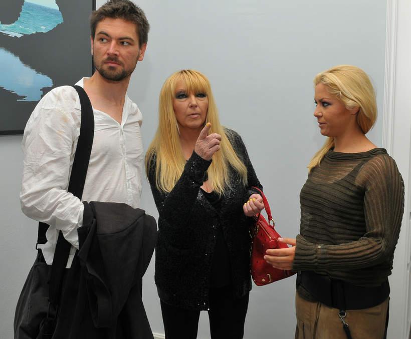 Maryla Rodowicz z synem Janem i córką Kasią 2007