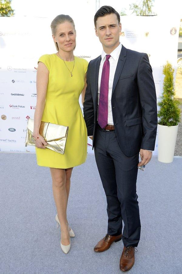 Mateusz Damięcki i Paulina Andrzejewska na pokazie La Manii podczas Sunreeft Yachts