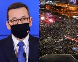 """Morawiecki o wpływie protestów na epidemię. UW: """"Nieuprawnione stwierdzenie""""!"""