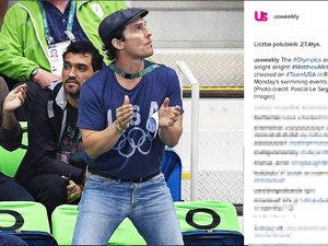 Matthew McConaughey na igrzyskach Rio 2016