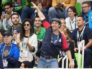 Matthew McConaughey na igrzyskach Rio 2016 z żoną Camilą Alves