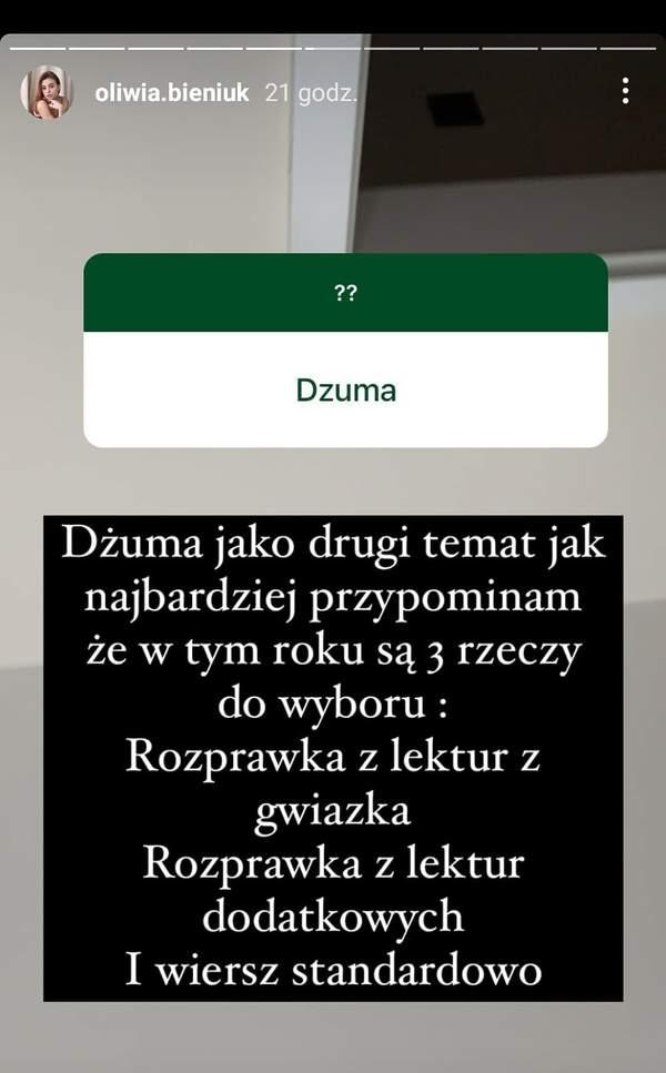 Matura 2021, Oliwia Bieniuk