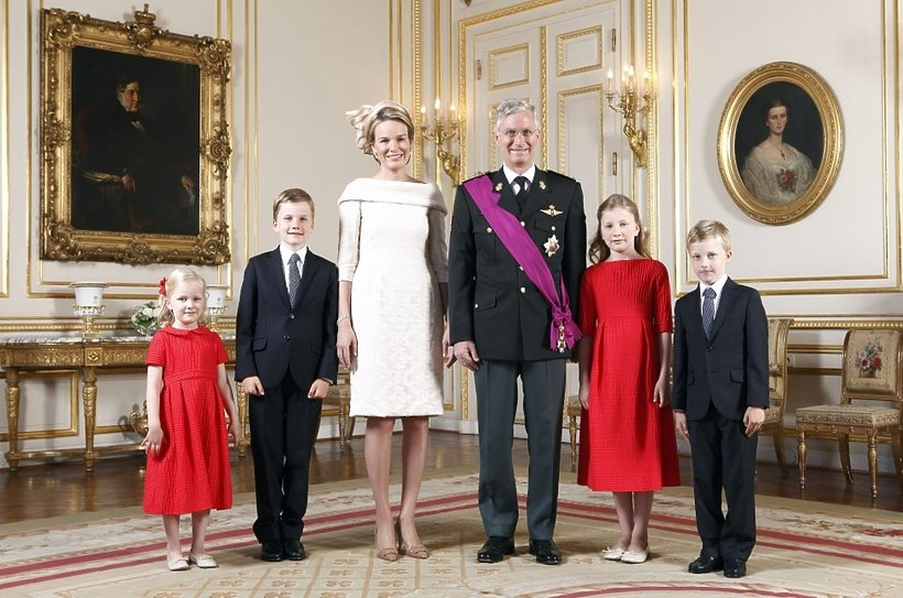 Matylda i Filip z dziećmi