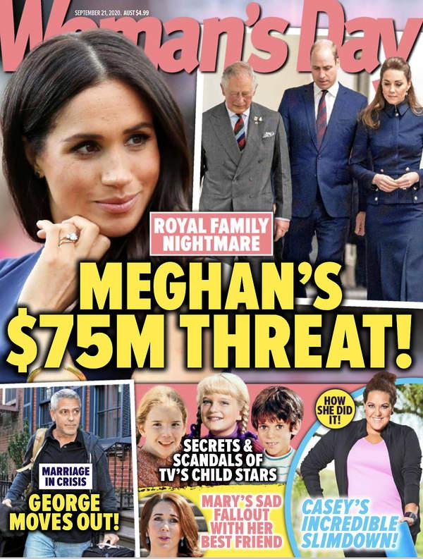 Meghan Markle, księżna Meghan, okładka Woman's Day wrzesień 2020