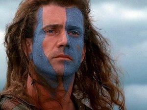 Mel Gibson w filmie Braveheart - Waleczne serce